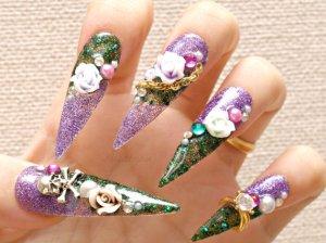 Long custom nails